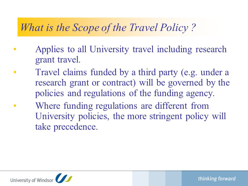 What is the Scope of the Travel Policy