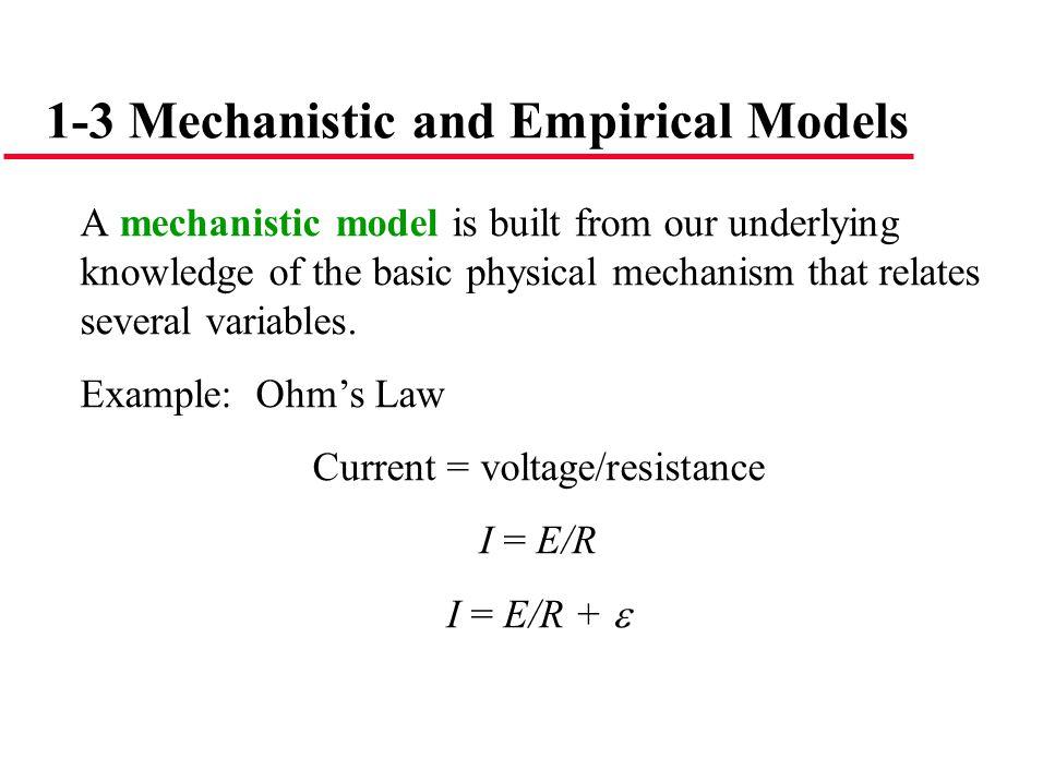 Current = voltage/resistance