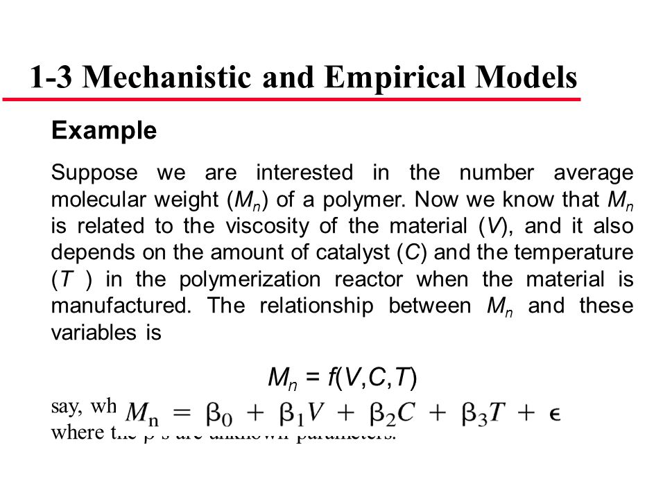 1-3 Mechanistic and Empirical Models