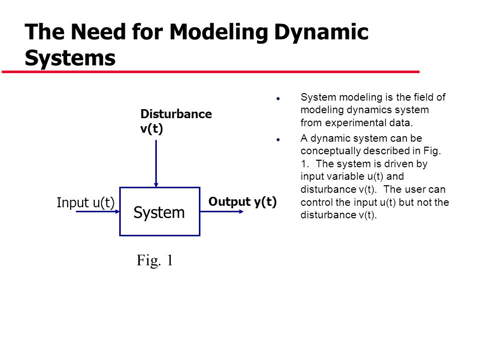The Need for Modeling Dynamic Systems