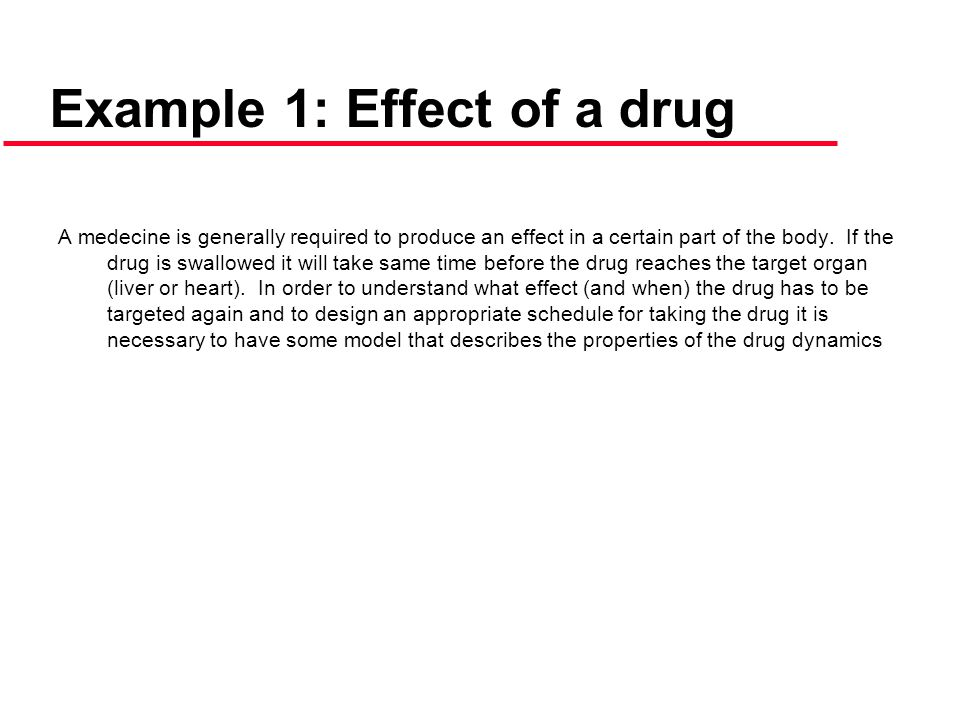 Example 1: Effect of a drug
