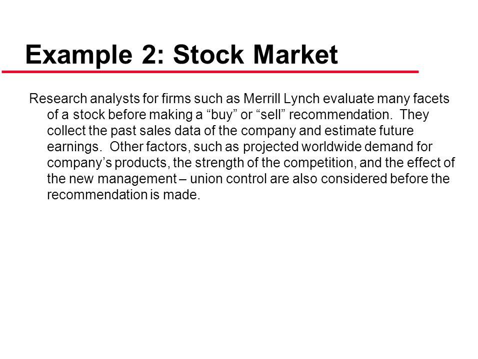 Example 2: Stock Market