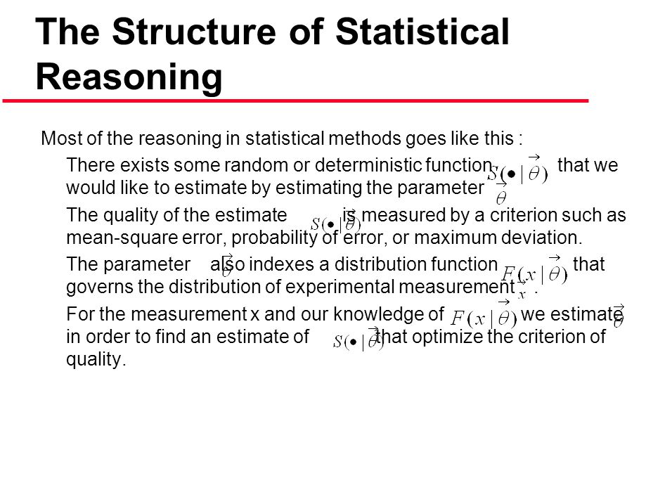 The Structure of Statistical Reasoning