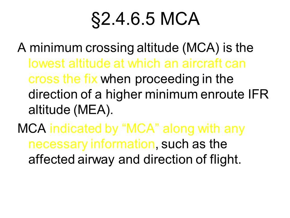 §2.4.6.5 MCA