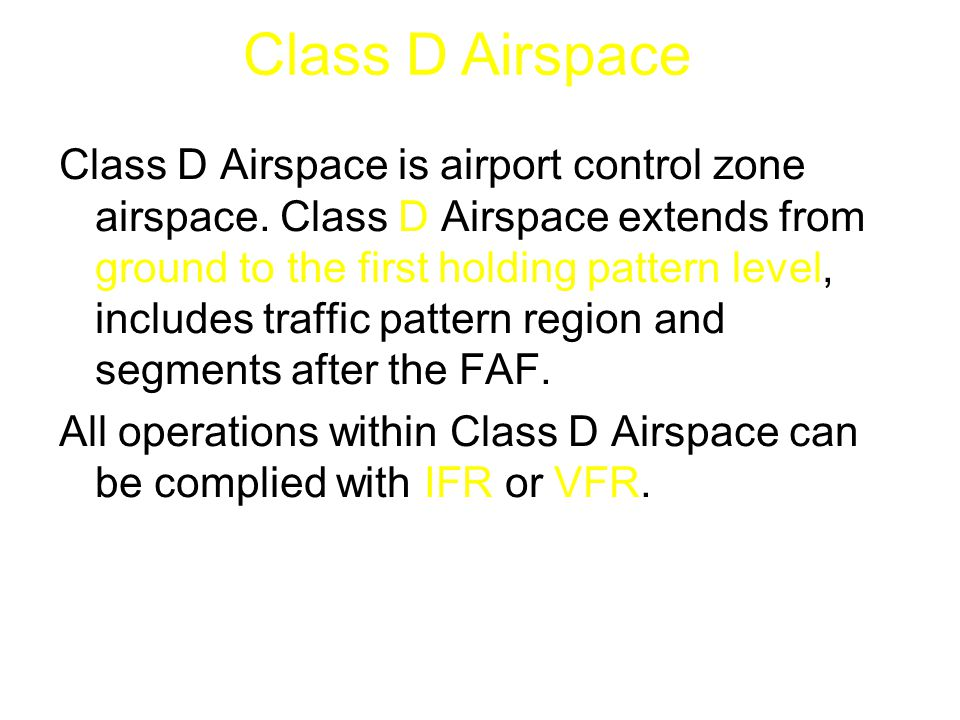 Class D Airspace