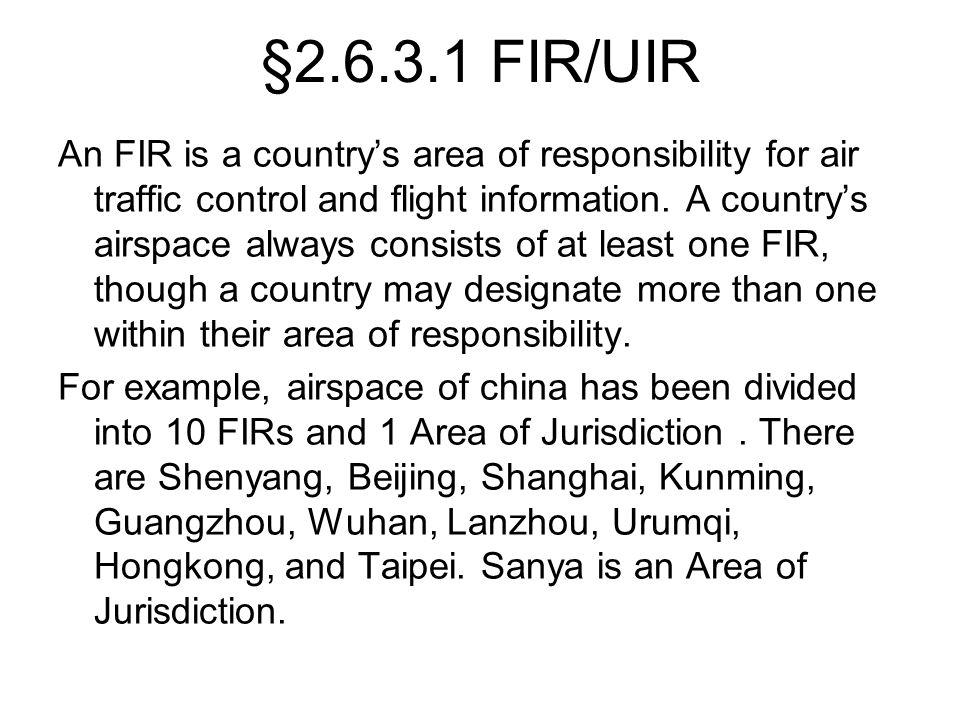 §2.6.3.1 FIR/UIR
