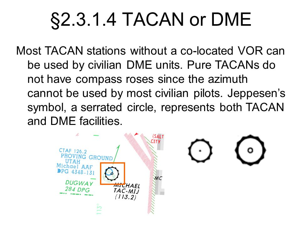 §2.3.1.4 TACAN or DME