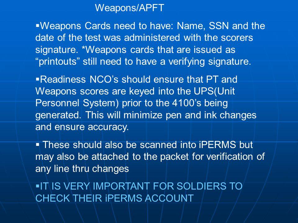 Weapons/APFT