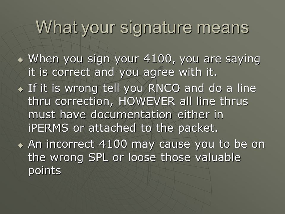 What your signature means