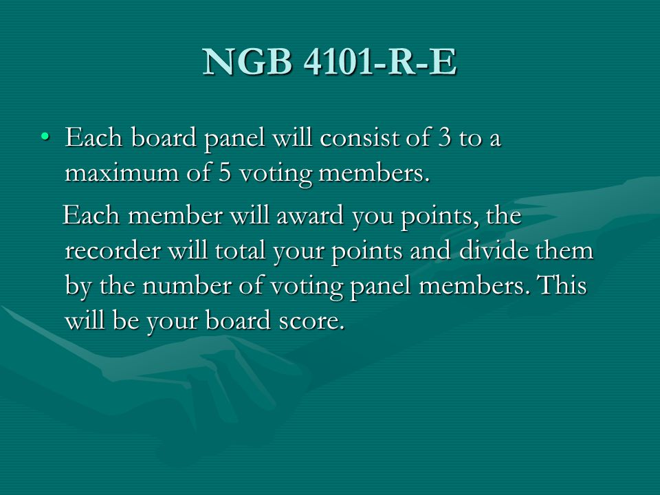 NGB 4101-R-E Each board panel will consist of 3 to a maximum of 5 voting members.