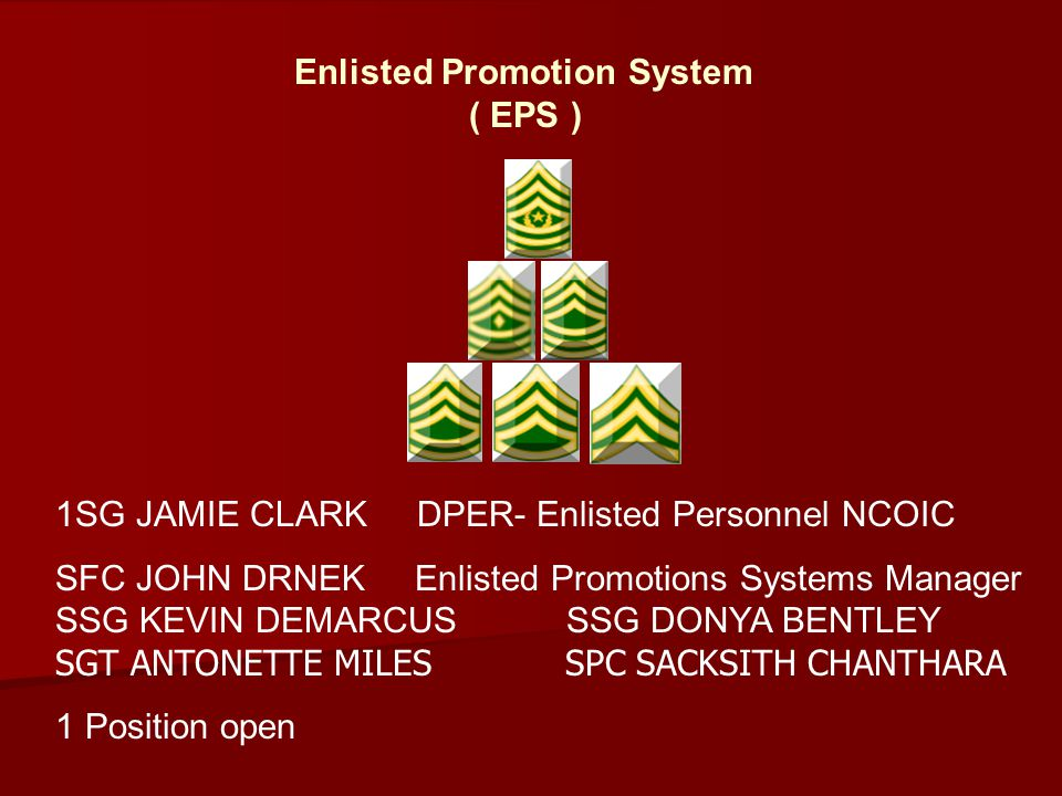 Enlisted Promotion System ( EPS )