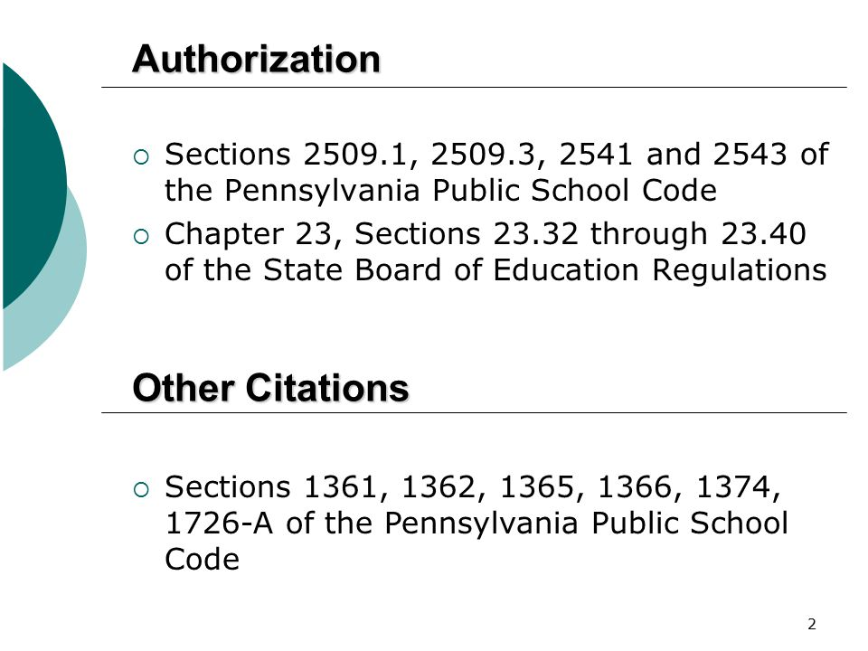 Authorization Other Citations