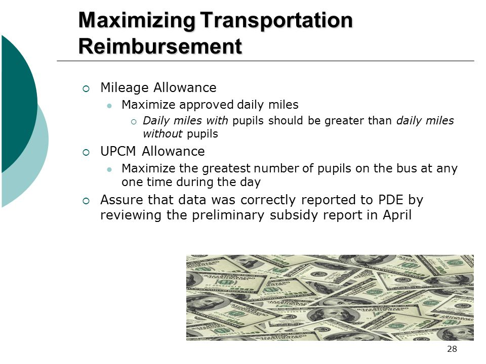 Maximizing Transportation Reimbursement