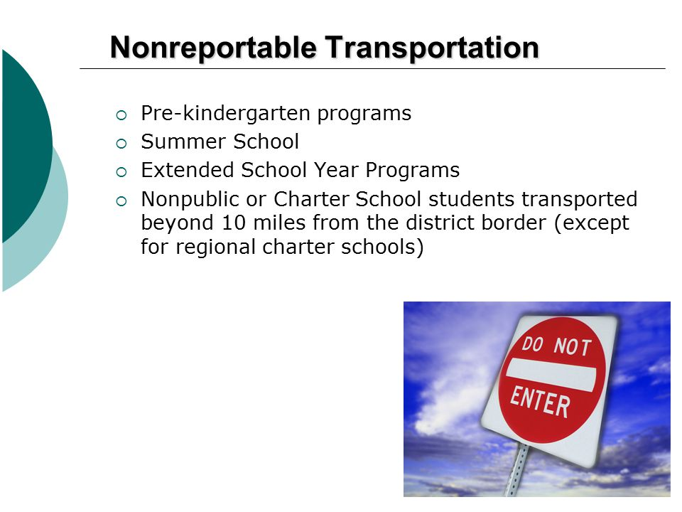 Nonreportable Transportation