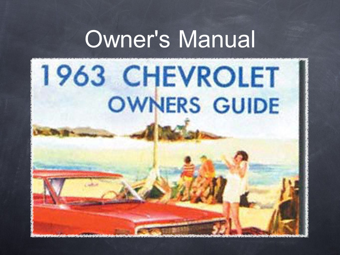 Owner s Manual Provides valuable information about your vehicle and it s systems
