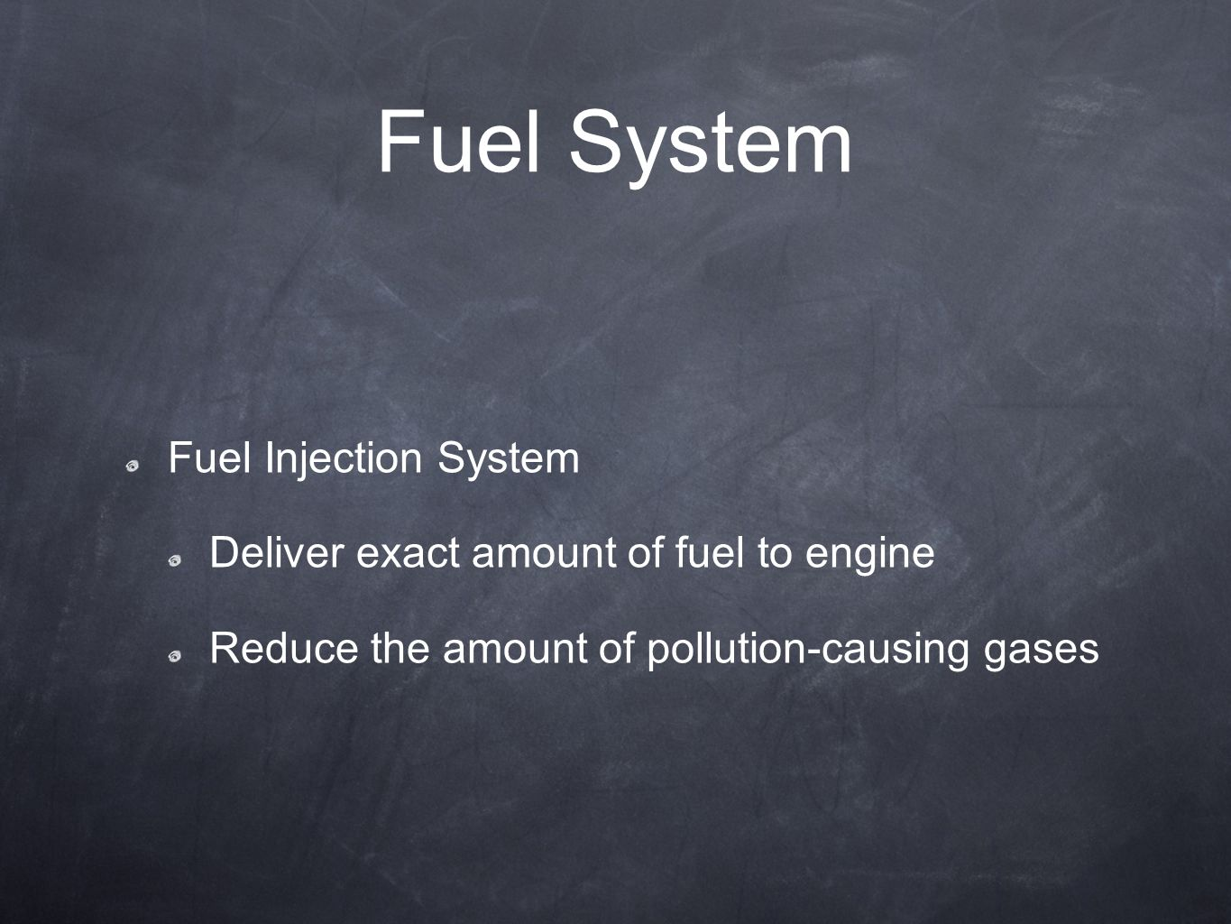 Fuel System Fuel Injection System
