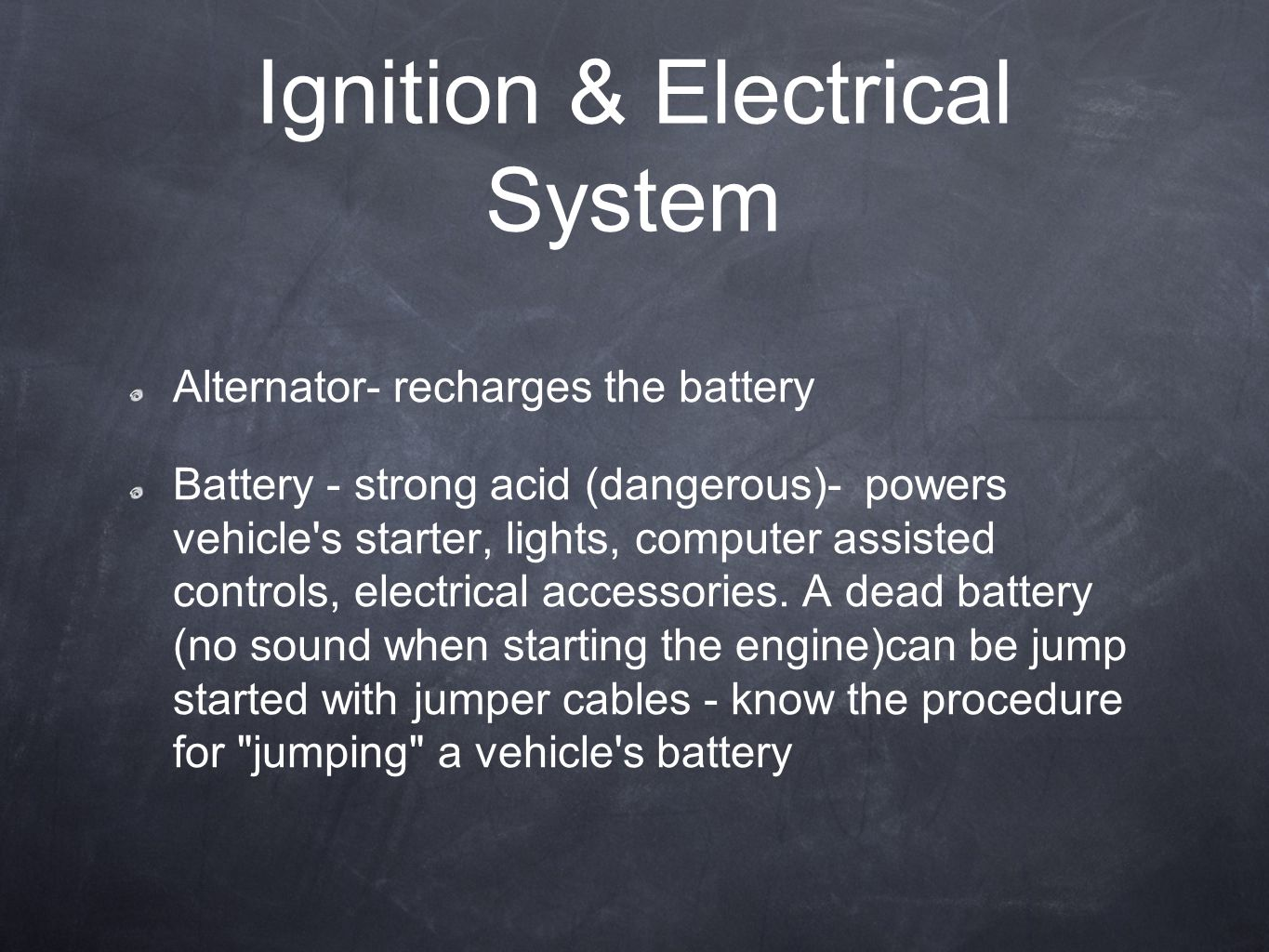 Ignition & Electrical System