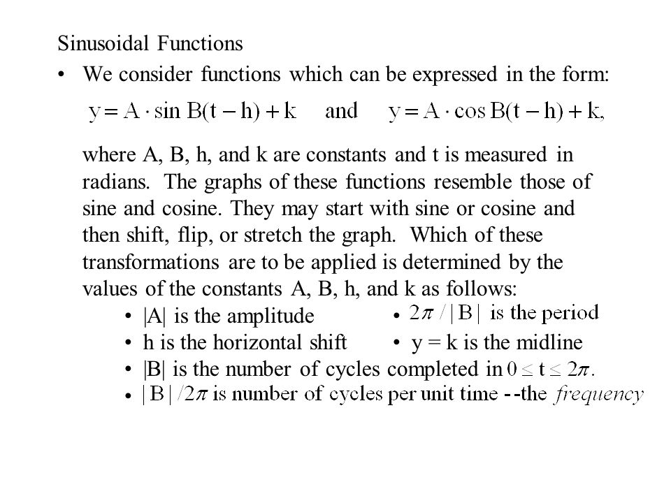 Sinusoidal Functions