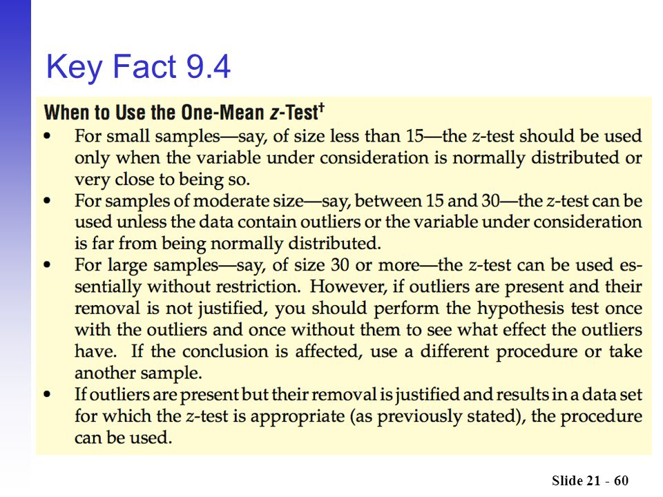 Key Fact 9.4 This should look familiar Do example 7, 8, and or 9
