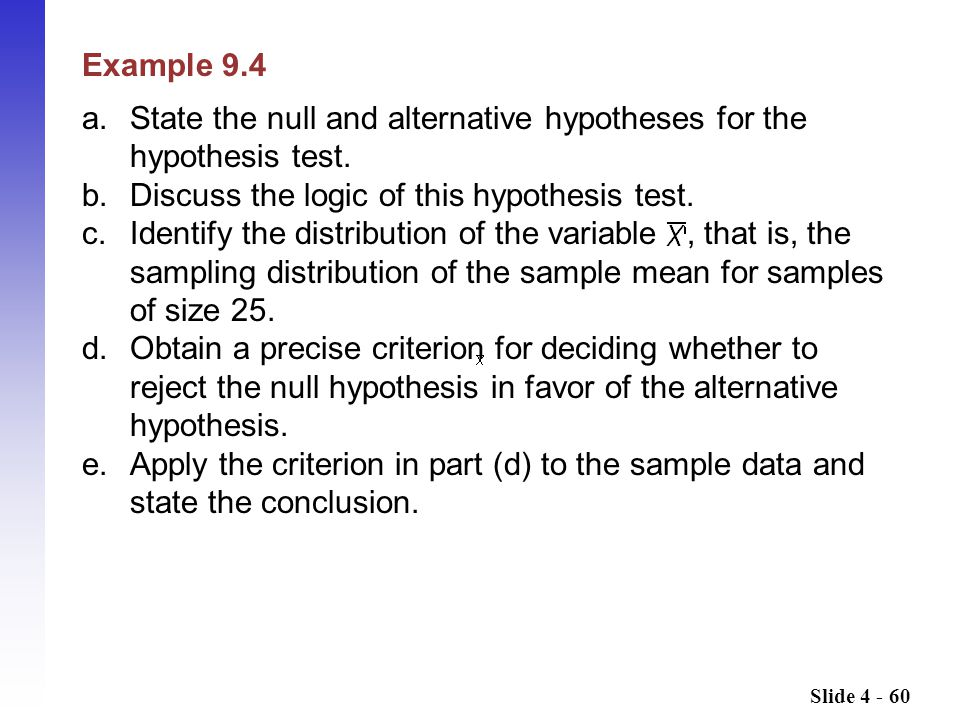 a. State the null and alternative hypotheses for the hypothesis test.