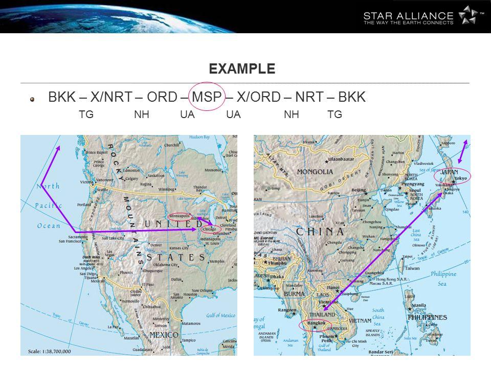 BKK – X/NRT – ORD – MSP – X/ORD – NRT – BKK