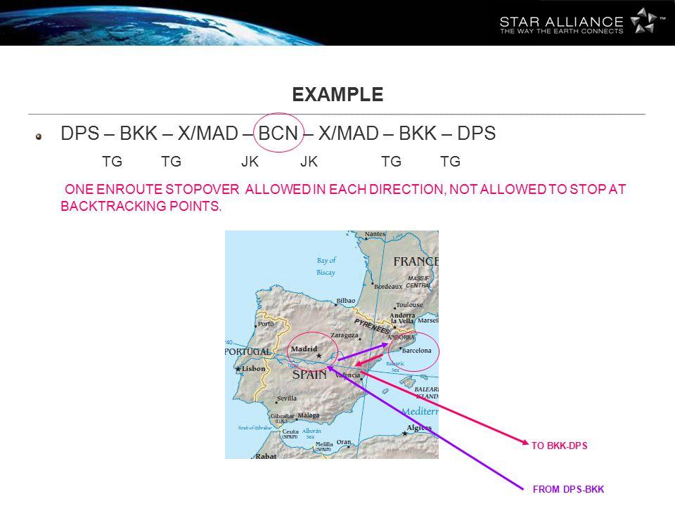 DPS – BKK – X/MAD – BCN – X/MAD – BKK – DPS TG TG JK JK TG TG