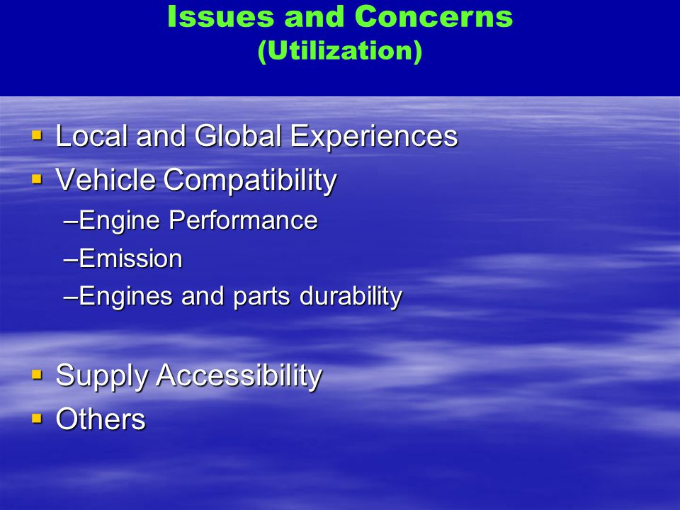 Local and Global Experiences Vehicle Compatibility