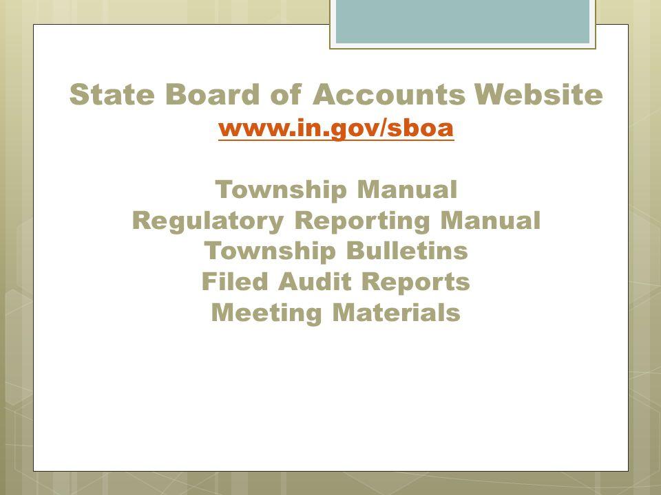 State Board of Accounts Website www. in
