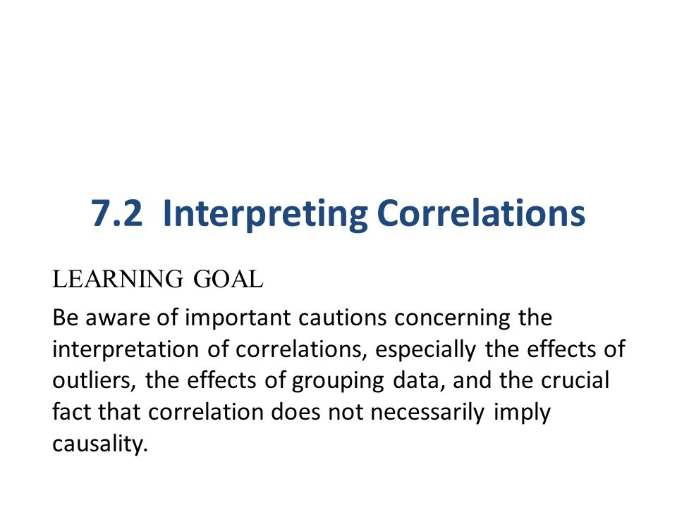 7.2 Interpreting Correlations