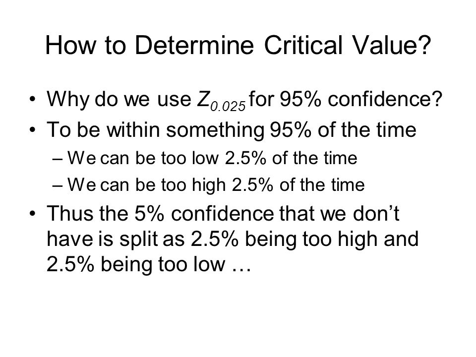 How to Determine Critical Value