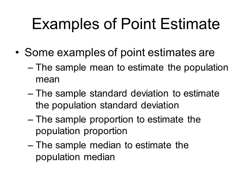 Examples of Point Estimate