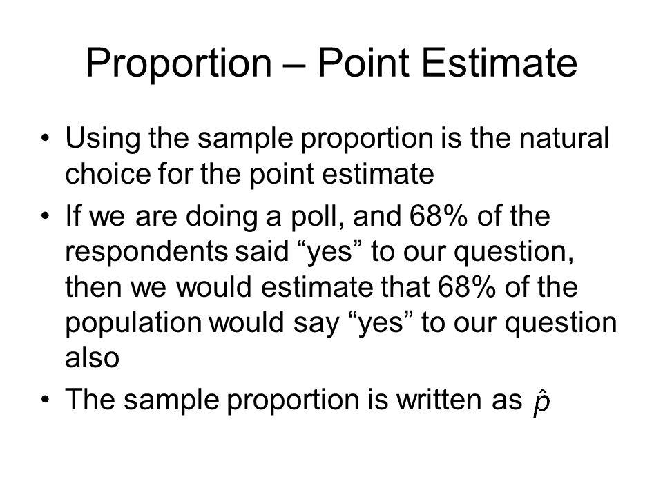 Proportion – Point Estimate
