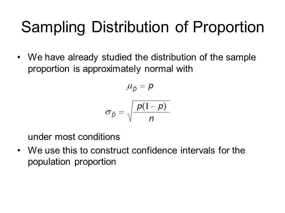 Sampling Distribution of Proportion