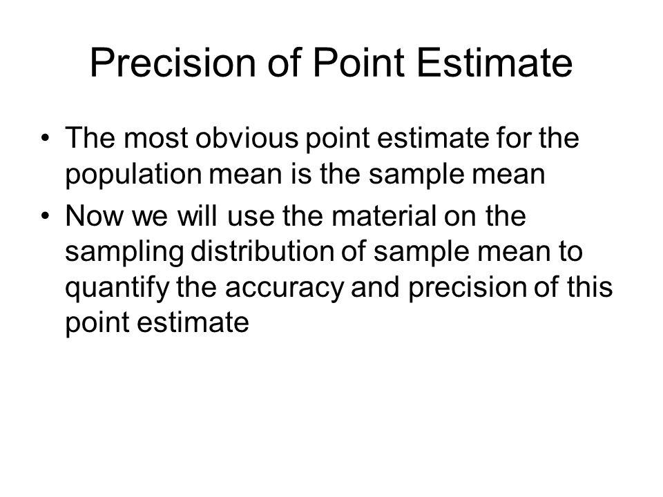 Precision of Point Estimate
