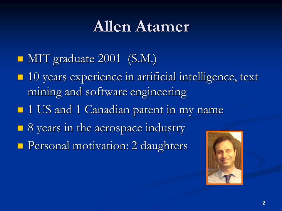 Allen Atamer MIT graduate 2001 (S.M.)