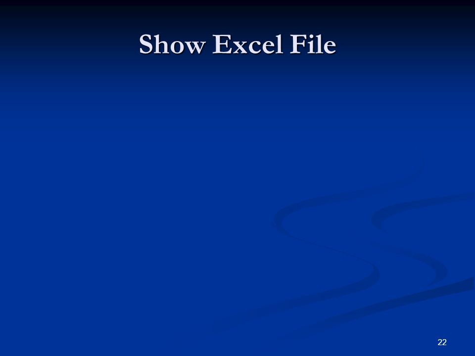 Show Excel File
