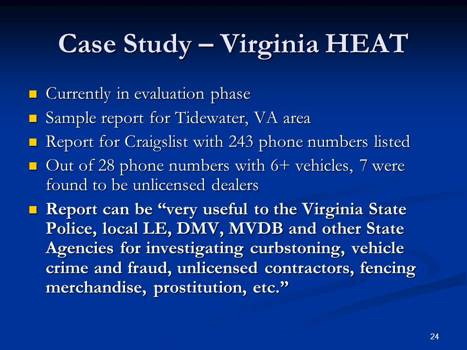 Case Study – Virginia HEAT