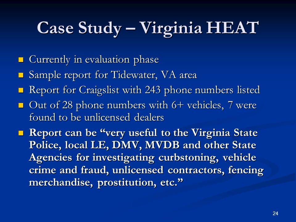Case Study – Virginia HEAT