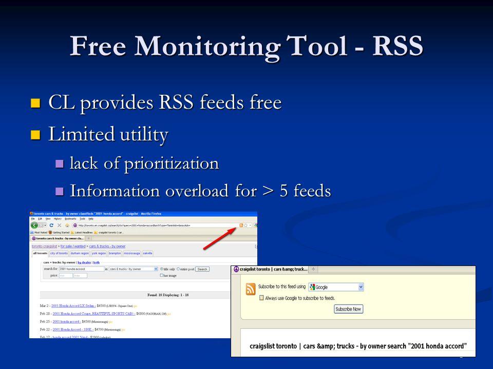 Free Monitoring Tool - RSS