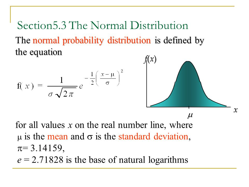 Section5.3 The Normal Distribution