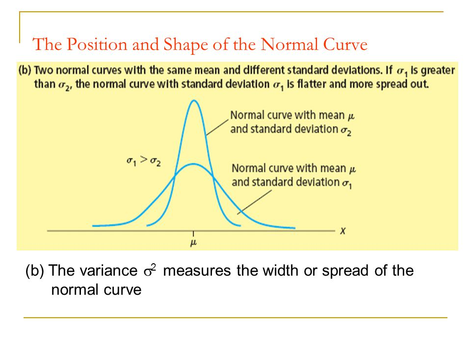 The Position and Shape of the Normal Curve