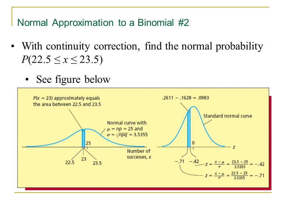 Normal Approximation to a Binomial #2
