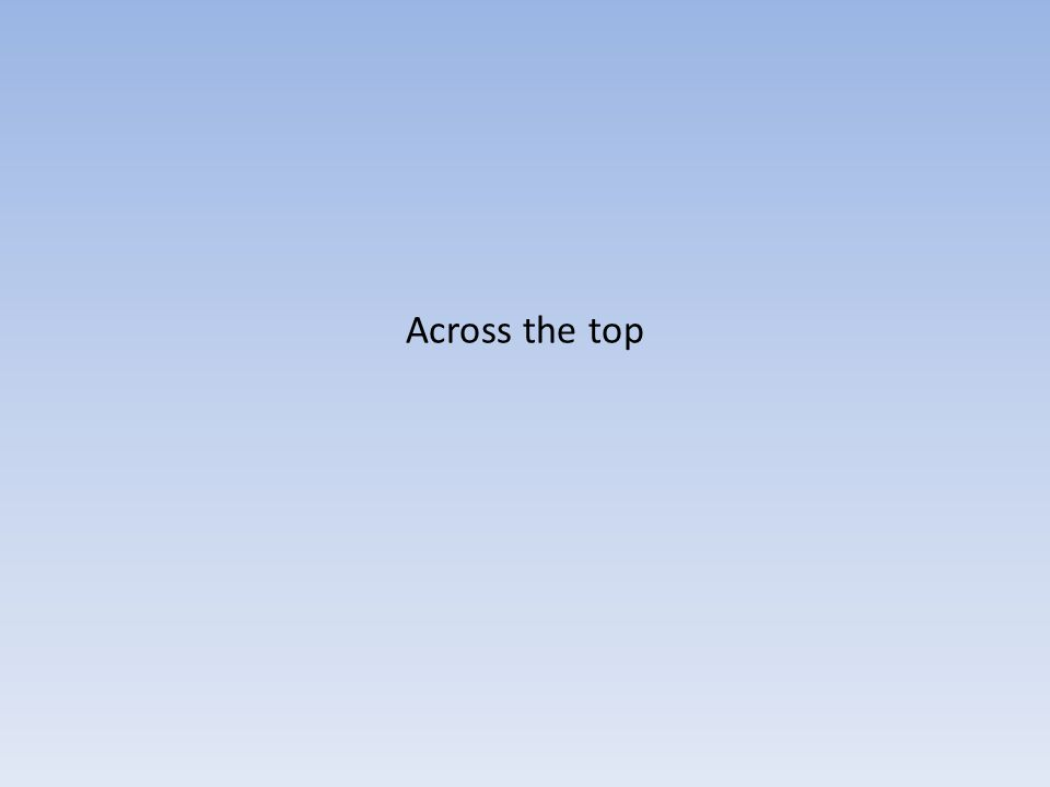 Across the top