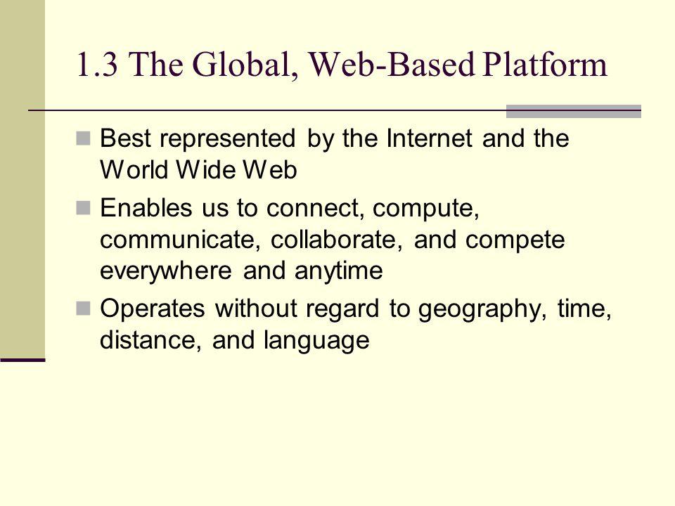 1.3 The Global, Web-Based Platform