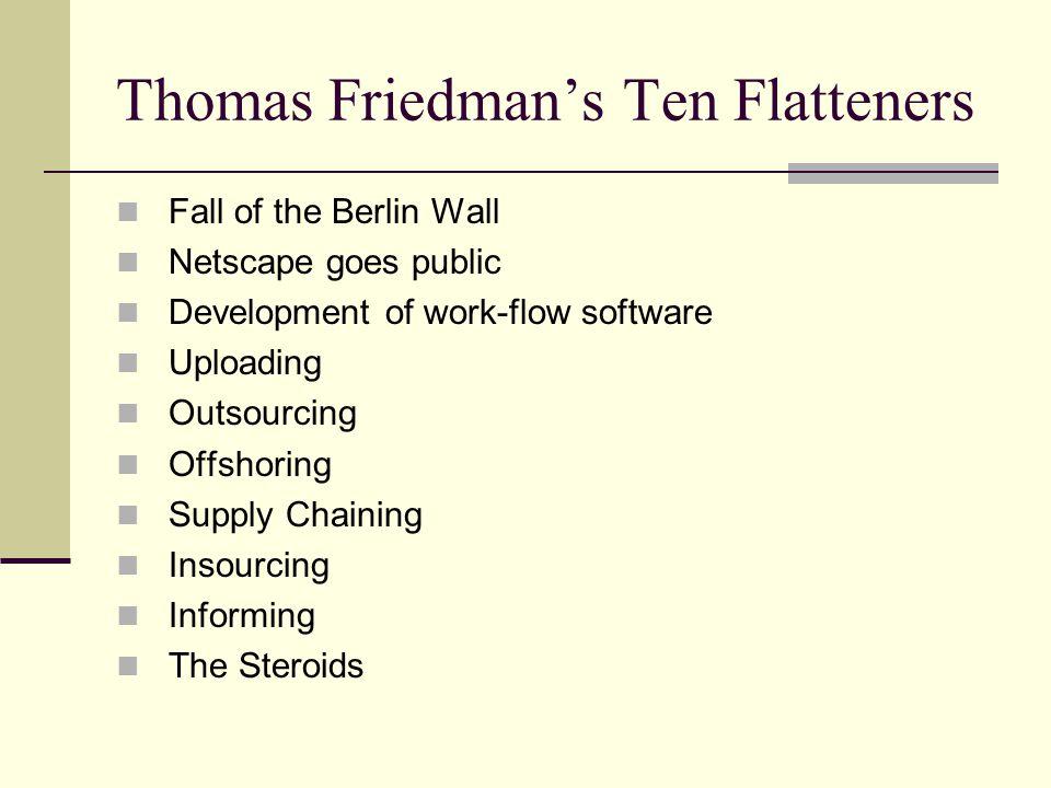 Thomas Friedman's Ten Flatteners