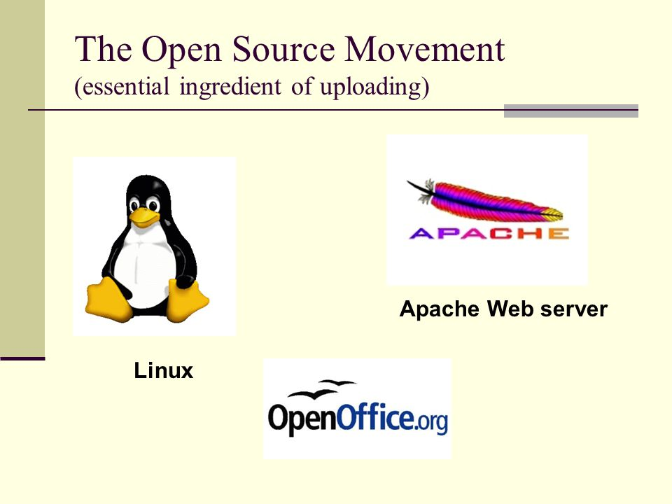 The Open Source Movement (essential ingredient of uploading)