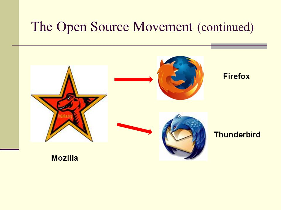 The Open Source Movement (continued)