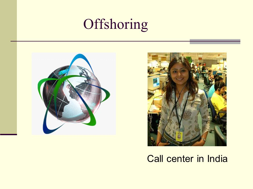Offshoring Call center in India