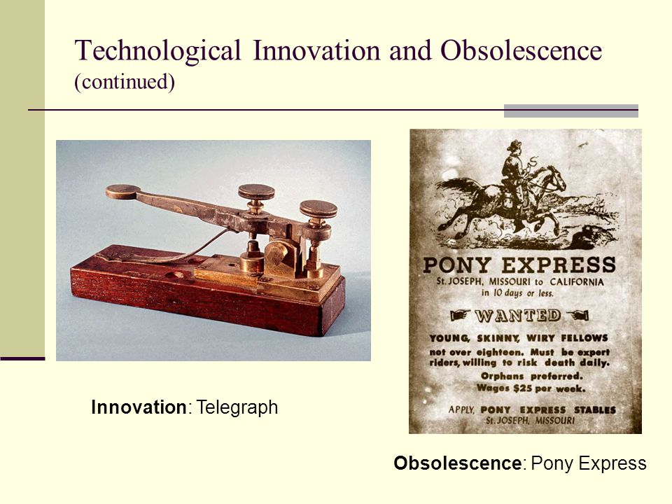 Technological Innovation and Obsolescence (continued)