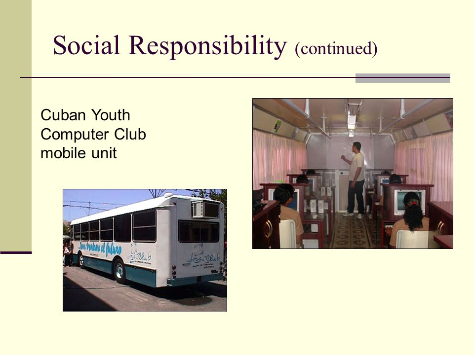 Social Responsibility (continued)